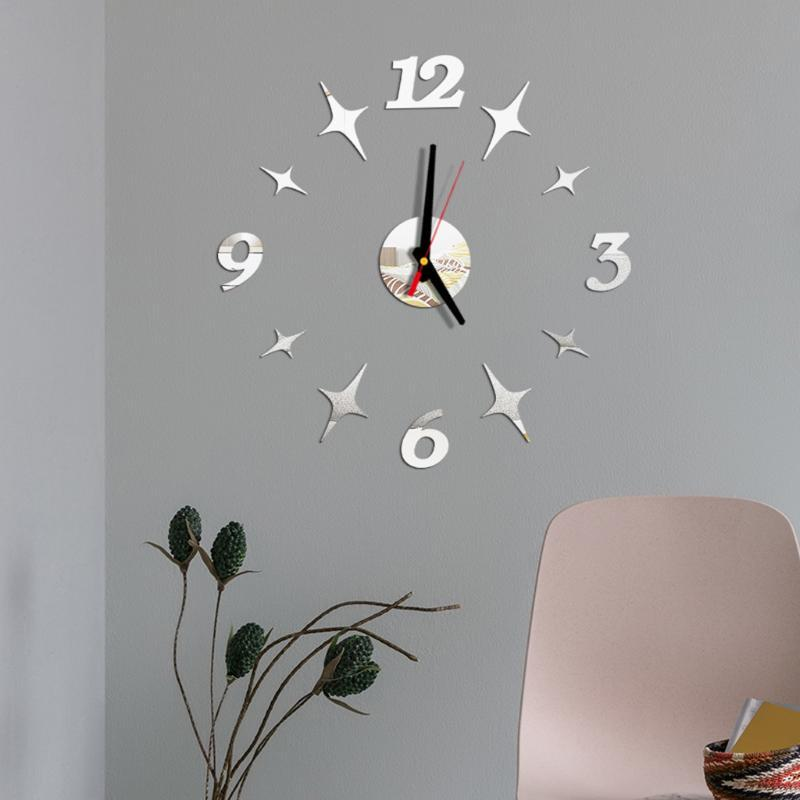 DIY Wall Clock 3D Mirror Surface Sticker Home Office Decor Clock household accessories 2019 new arrivals best sell dropshipping