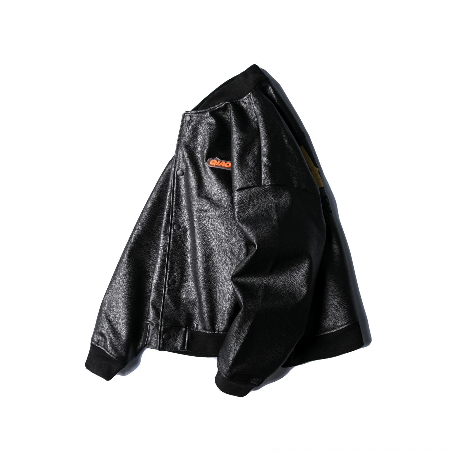 eUpj1 Wuhang Wallet 2020 весной новый модные летные любители сыпучих курток мужских всех-матч кожи молодость вскользь куртка