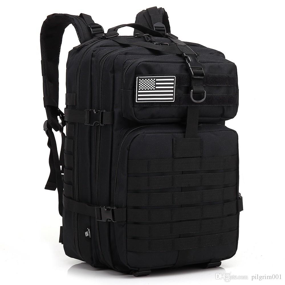 армейские рюкзаки тактическая сумка runcksacl пакеты 45L штурмовые сумки на открытом воздухе 3P EDC Molle Pack для походов пикник бег трусцой играть в кемпинг охота сумка
