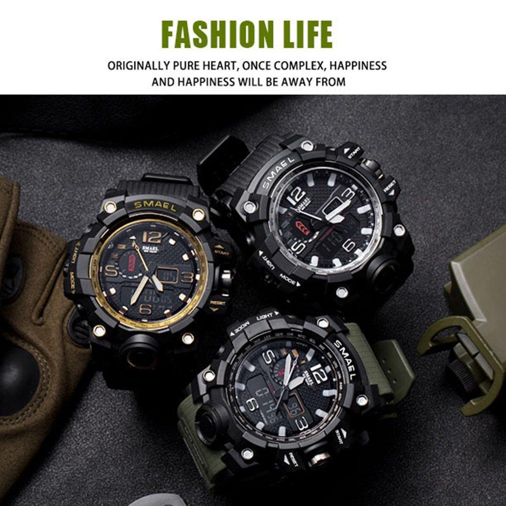 wholesale Mens Waterproof LED Digital Chronograph Watches for Man Sport Male Clock Stop Army Military Watch Multifunction Outdoor