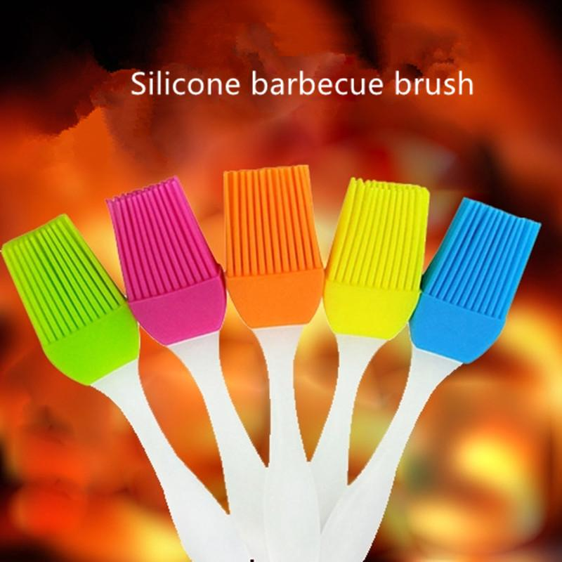 Hot Silicone Oil Brush Cake Oil Brushes High Temperature Resistant Hair Free Small Barbecue Brush Kitchen Baking Tool
