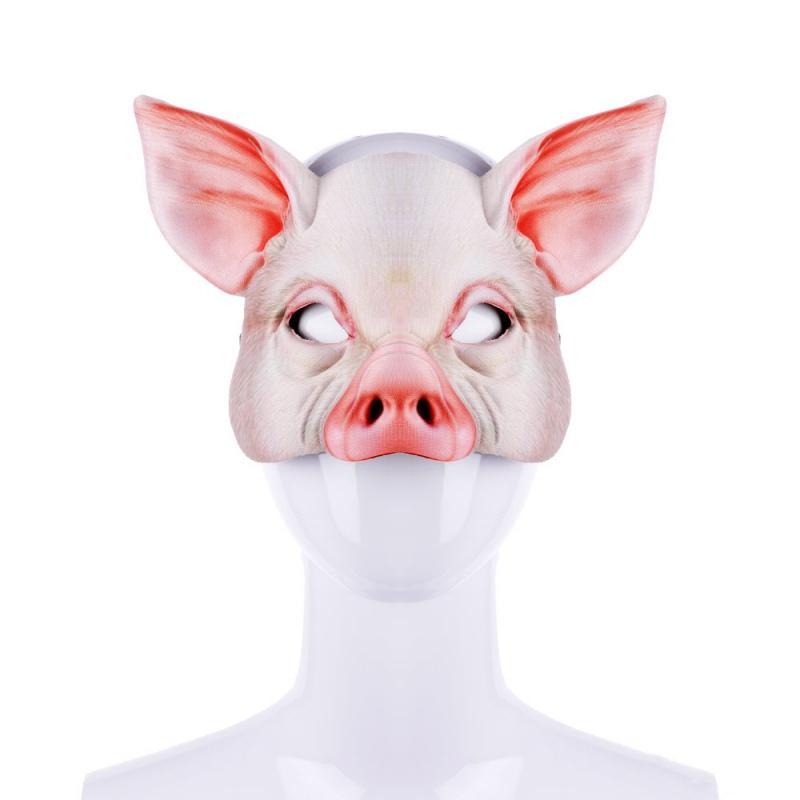 Halloween Pig Head Mask Animals Shape Head Wear Fancy Adult Costume Accessory Party Cosplay Halloween Mask