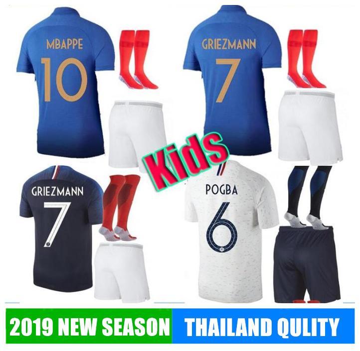 2 yıldız ÇOCUKLAR 2019 20 DÜNYA KUPASI Futbol formaları PAYET dembele MBAPPE Griezmann Kanté Coman calcio futbol TAKIMLARI Belçika GÖMLEK ŞAMPİYON