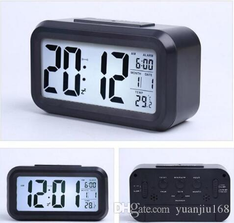 2021 Smart Sensor Nightlight Digital Alarm Clock With Temperature Thermometer Calendar Silent Desk Table Clock Bedside Wake Up Snooze Gd64 From Yuanjiu168 4 73 Dhgate Com