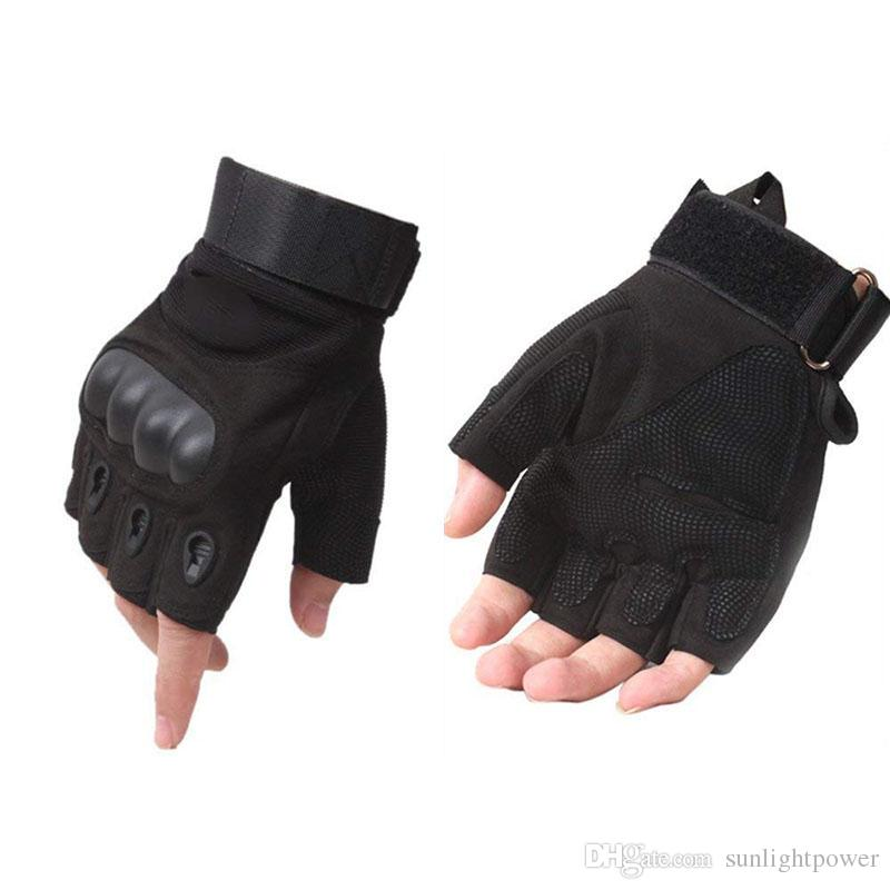 Outdoor Sport Gloves Tactical Gloves Fingerless Half Finger Motorcycle Gloves