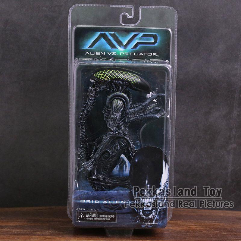 NECA Alien vs. Predator Xenomorph / Warrior Alien / Grid Alien PVC Action Figure Collectible Model Toy