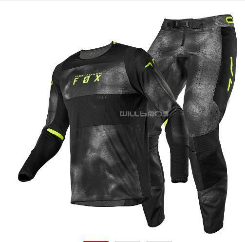 Montar 2020 Fox Head Racing Jersey y bragas de la ATV MX Equipo Conjunto de motocross al aire libre de secado rápido Traje