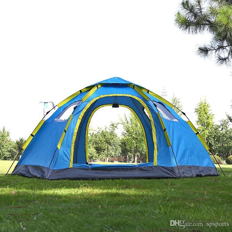Rapida apertura automatica Beach BeachTents tenda pop-up Shelter fa un'escursione tenda della famiglia per 5-8 persone