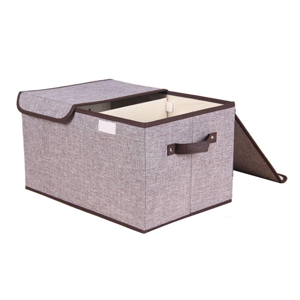 2 Lattice Cassetti Camera Organizzatore pieghevoli vestiti non tessuto Maniglie Container scomparti Sundries armadio cubi con coperchio Storage Box