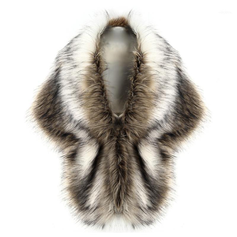 Nuevo 2018 señoras de las mujeres de lujo Escudo de piel falsa chaleco de invierno Wharm grueso elegante H11 Chaqueta nupcial de la boda blanca de la piel Chales Capes