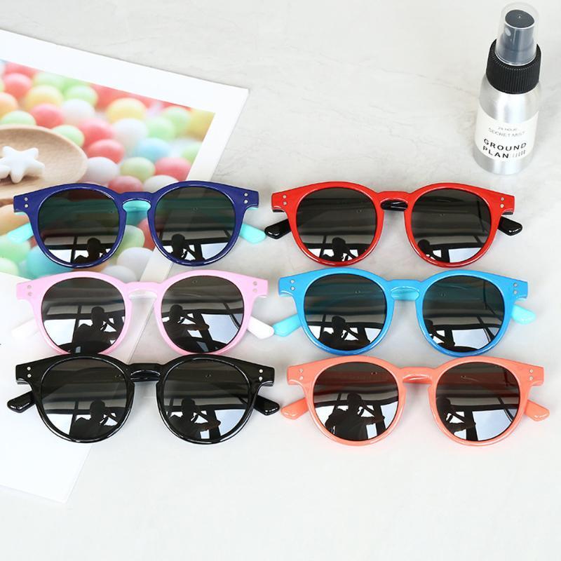 Силиконовые безопасности детей солнцезащитные очки мальчиков Девушка младенца Круглый поляризованные Дети солнцезащитные очки ретро очки Спорт на открытом воздухе для детей Eyegasses
