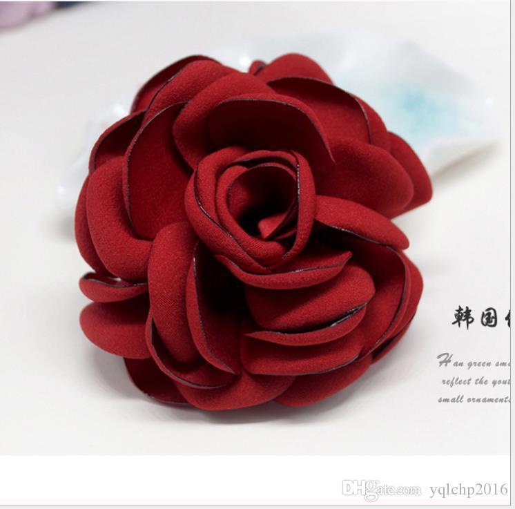 Broche Flor grande Novia Vestido Etapa Cabeza de broche Adornos de flores