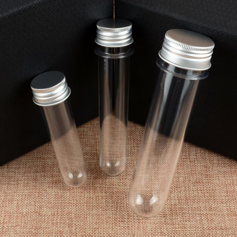 50шт 100 мл прозрачная маска соль для ванны тест пластиковая трубка с алюминиевой крышкой пустая прозрачная ПЭТ косметическая трубка