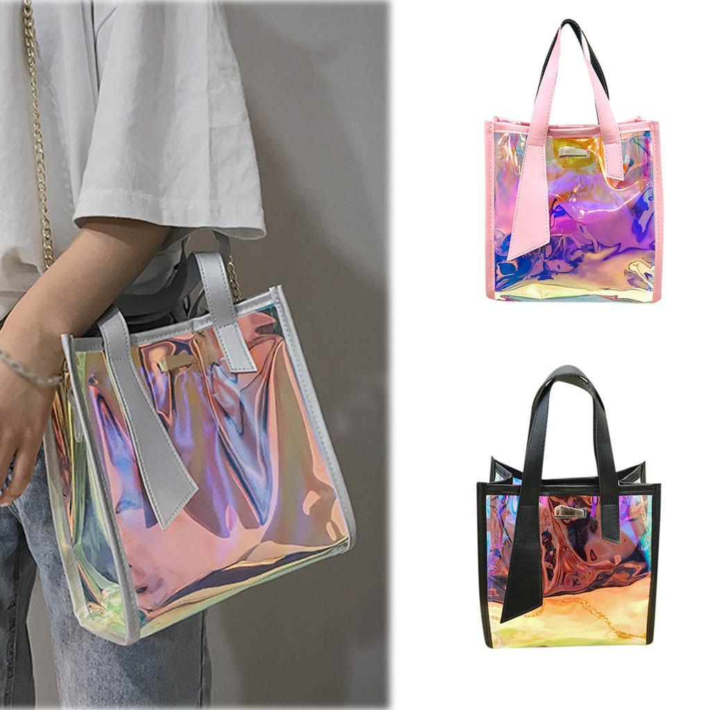 Messenger ombro novo saco de moda multi-função mulheres transparentes bolsas bolsas bolsas cor laser novo wrvvf