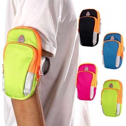Sport Accessories Armband Bag Running Arm Bag Workout Wrist Pouch Sweatband Ultralight Zipper Pouch Cellphone Holder Travel Wrist Wallet