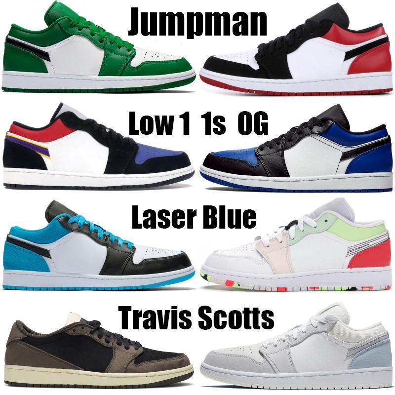 Баскетбол Low 1 1s Jumpman UNC Laser Синего суд фиолетовый обувь Mens женщины баскетбольной сосна зеленый Dold королевского черный носок кроссовки кроссовки
