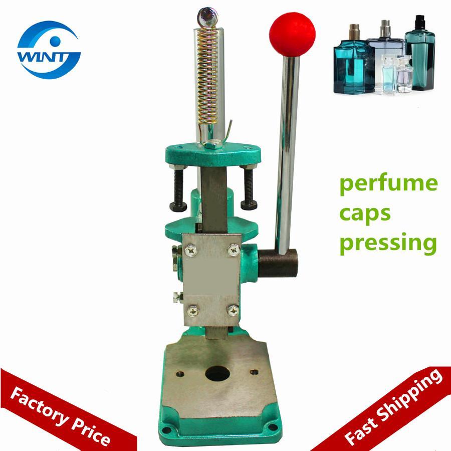 Parfümflasche bedeckende Maschine Parfüm Kragen Ring Pressmaschine Für Sojasoße Essig Flaschenverschlüsse Pressen Schuhcreme Stecker