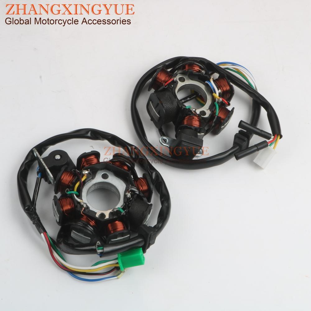 Scooter estator 6-8 pólo da bobina por Longjia LJ125T GY6 125/150 152QMI 157QMJ 4 tempos