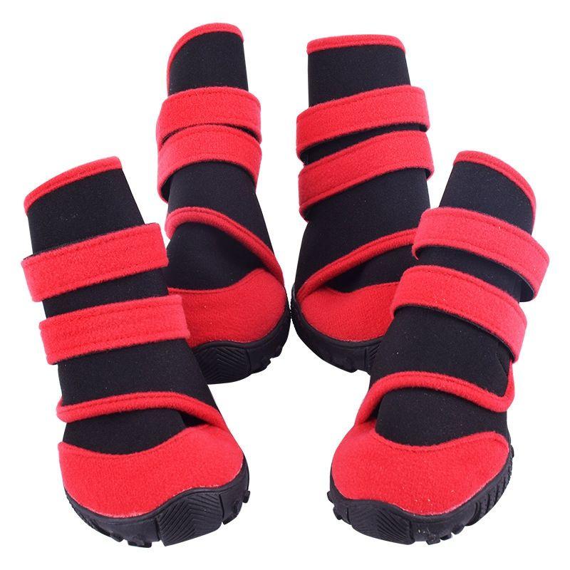 4 Pet Set Köpek Ayakkabı Moda Pet Ayakkabı Branda Big Dog Boots Ayakkabı /