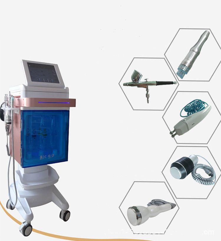 المهنية NV-W02 5 في 1 صالون تجميل الأكسجين الوجه آلة / المياه اللوازم الطبية طائرة تقشير معدات التجميل الشحن المجاني