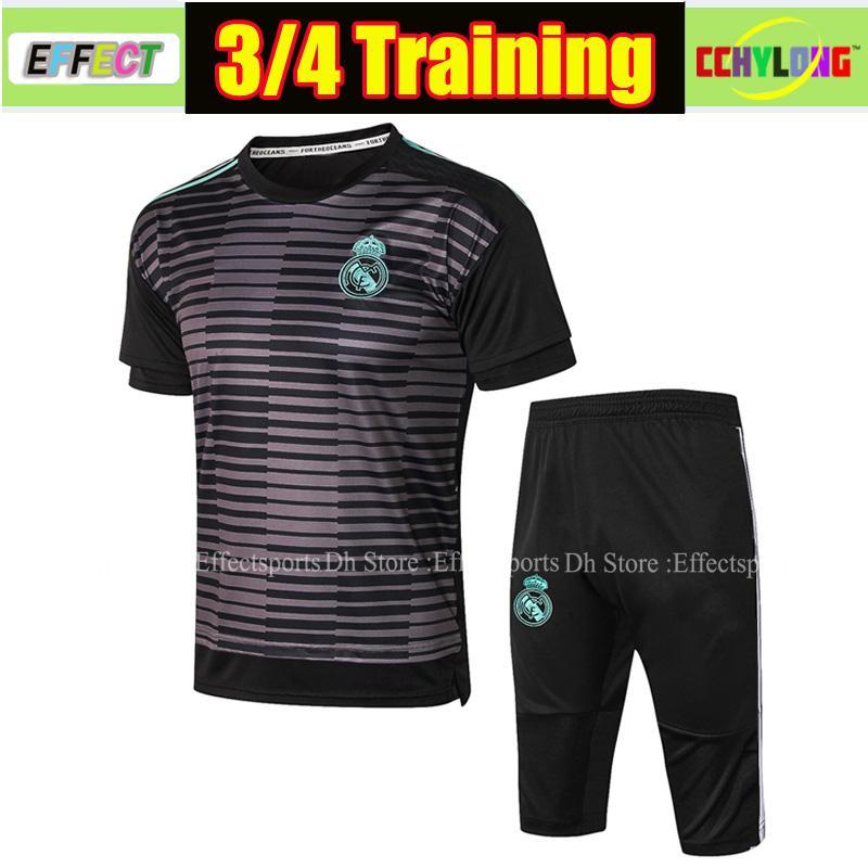 2019 Real Madrid Tracksuit Short Sleeve ASENSIO ISCO Soccer Jerseys 3/4 Patns Training Suit 18/19 camiseta de futbol shirts
