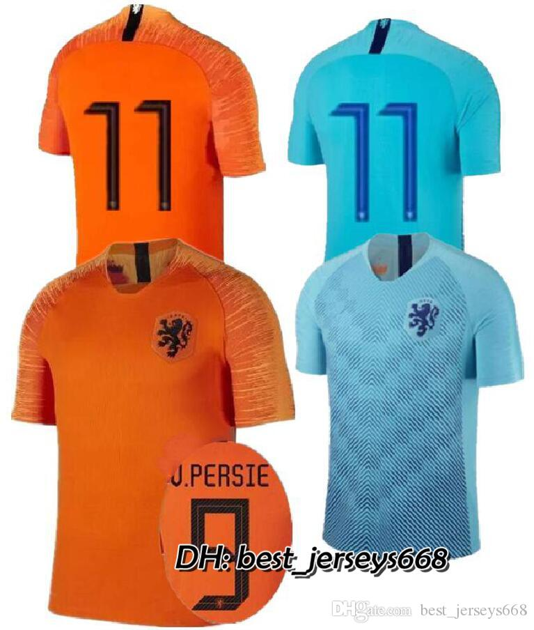 d83073695 2018-19 Nederland soccer jersey Netherlands home away orange MEMPHIS JERSEY  ROBBEN 18 19 thai quality V.Persie Dutch football shirts