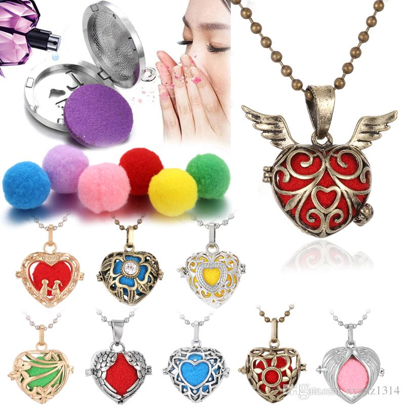 BFF Jewelry Fashion Aromatherapy Essential Oil Necklace Diffuser Locket Necklaces Animal Cat Pendant