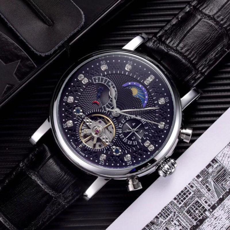 High Quality Quartz Watches Roman Numerals Luxury Blue hot air balloon Watches Bling Diamond Watches for Men Women Fashion Wristwatches9841#