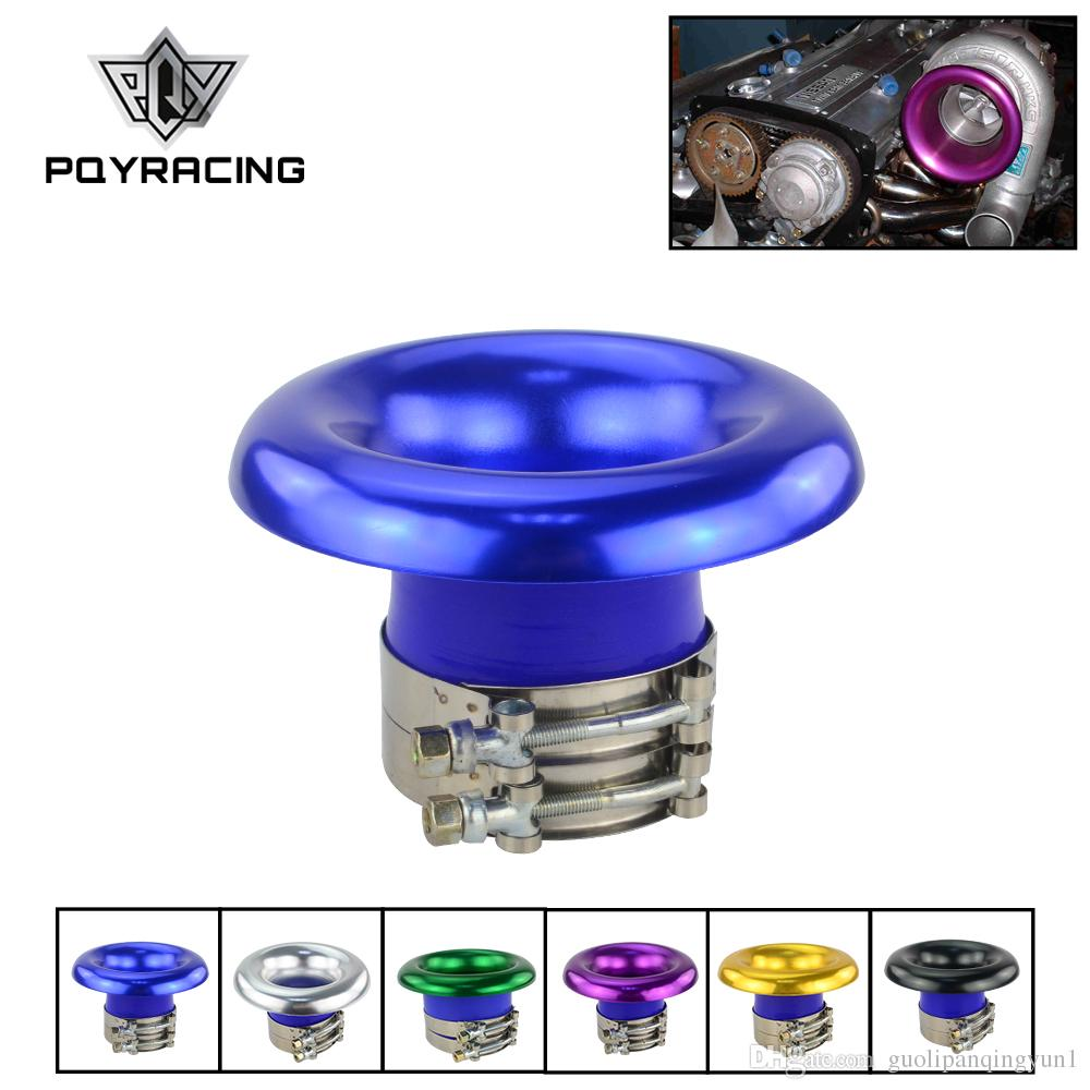 "3/"" Purple Short Ram Air Intake Turbo Horn Aluminum Velocity Stack Silicone Hose"