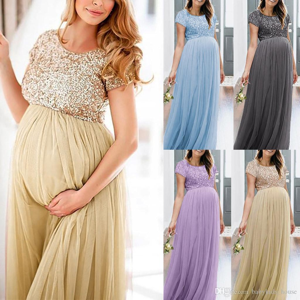 2021 Maternity Dress For Photo Shoot Summer Maternity Photography Photo Props Fancy Popular Long Maxi Gown Maternity Dress Clothing From Babykids House 20 55 Dhgate Com