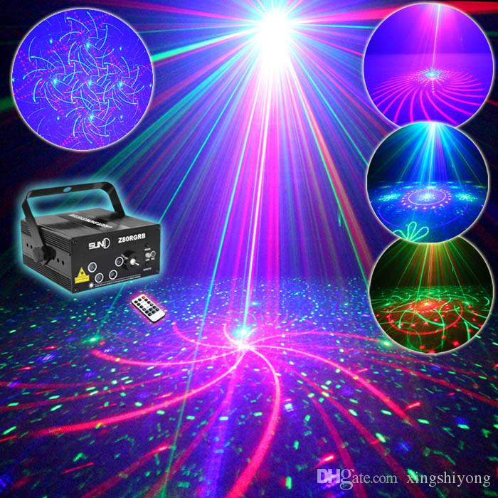 5 Lens 80 Patterns RG RB Laser Projector Light Red Green Blue LED Stage Lighting DJ Disco Bar Show Home Party Professional Xmas Light