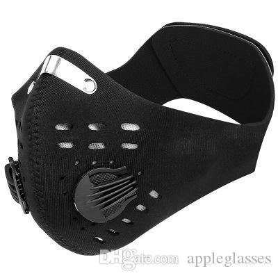 Auf Lager! Anti Staub Gesichtsmundschutz Wiederverwendbare Masken Respirator Staubdichtes Antibakteriell Waschbar wiederverwendbare Nylon Masken Werkzeuge Maske Radfahren