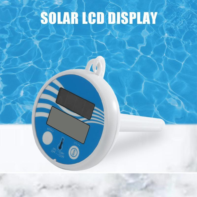 LCD Wireless Display Piscina Medição de temperatura pequeno Floating Aquarium Waterproof Termômetro Digital Bath Spa de Água