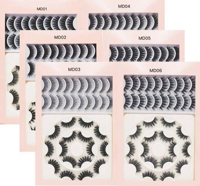 Бесплатная доставка ePacket новые 18 пар 3D Ресницы ручной работы Natural Long Поддельный норка Ресницы Женщины макияж Накладные ресницы Extensions