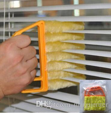 Cleaner aveugle Fenêtre persienne Brosse de nettoyage amovible Creative Lavable Climatiseur Chiffon de nettoyage avec poignée Outils