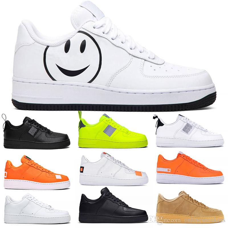 Men Women Fashion Platform Sneakers One Utility Black White Triple Volt Red Flax Mens Trainer Casual Skateboard Shoes Size 36-45