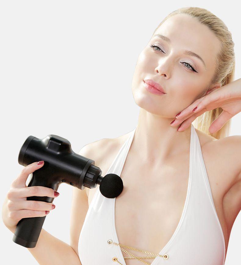 Muskel-Massage Gun Deep Tissue Massagetherapie Gun Fitnesstraining Schmerzlinderung Körpermassager- Muskel compact Recovery-Fascia Gun Damen Relax