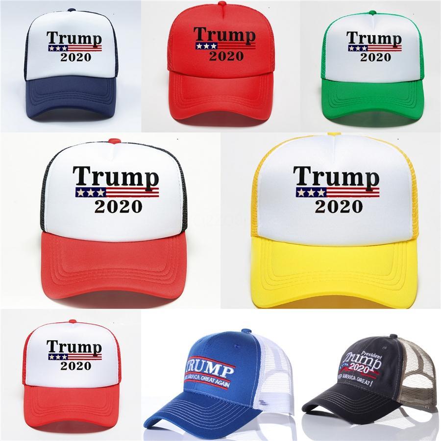 Toptan Trump 2020 Beyzbol şapkası Cumhuriyetçi Beyzbol Şapka Yeni Makyaj Amerika Büyük Yine İşlemeli Trump Başkanı Cap # 630 Caps
