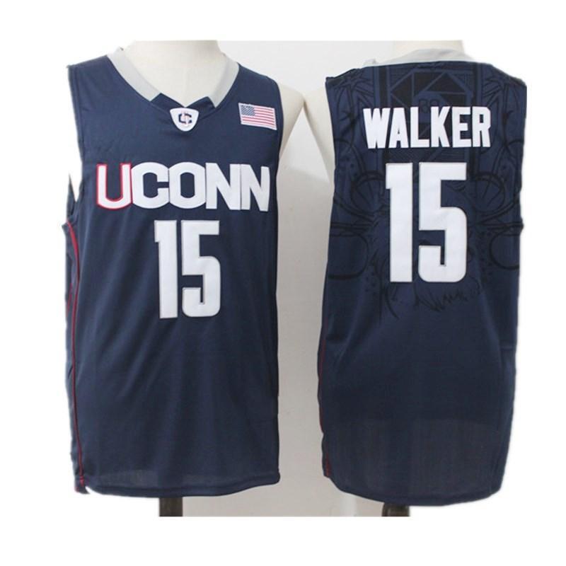 Männer NCAA Uconn Huskies College-Trikots Kemba Walker Sue Bird 3 Diana Taurasi 30 Breanna Stewart Ray Allen Moore weiß Navy Basketball Jersey