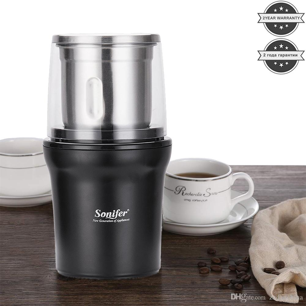 CKV-32 free shipping Mix and Match Welcome High Quality Electric Coffee Grinder Maker Stainless Steel Beans Mill Herbs Nuts Sonifer