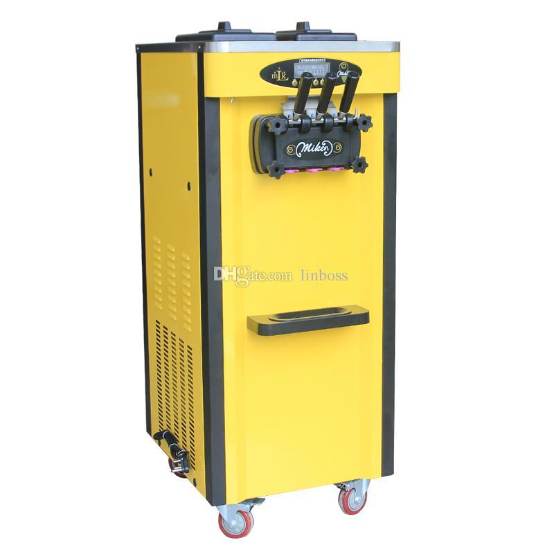 3 Sabor máquina de crema de helado suave de alta calidad para la venta de helados máquina vendedora caliente de la máquina vertical de helado
