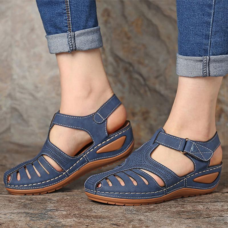 Kadınlar Sandalet Kadınlar Yaz Sandalet Gladyatör Casual Platformu Sandalet ile Kama Topuklar Sandalias Mujer İçin 2020 Yeni takozları Ayakkabı
