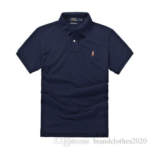 최고 품질 패션 디자이너 RL 레이싱 폴로 브랜드 폴로 # 008 US 오프 럭셔리 여름 남성 짧은 캐주얼 화이트 자수 옷깃 T 셔츠 슬리브