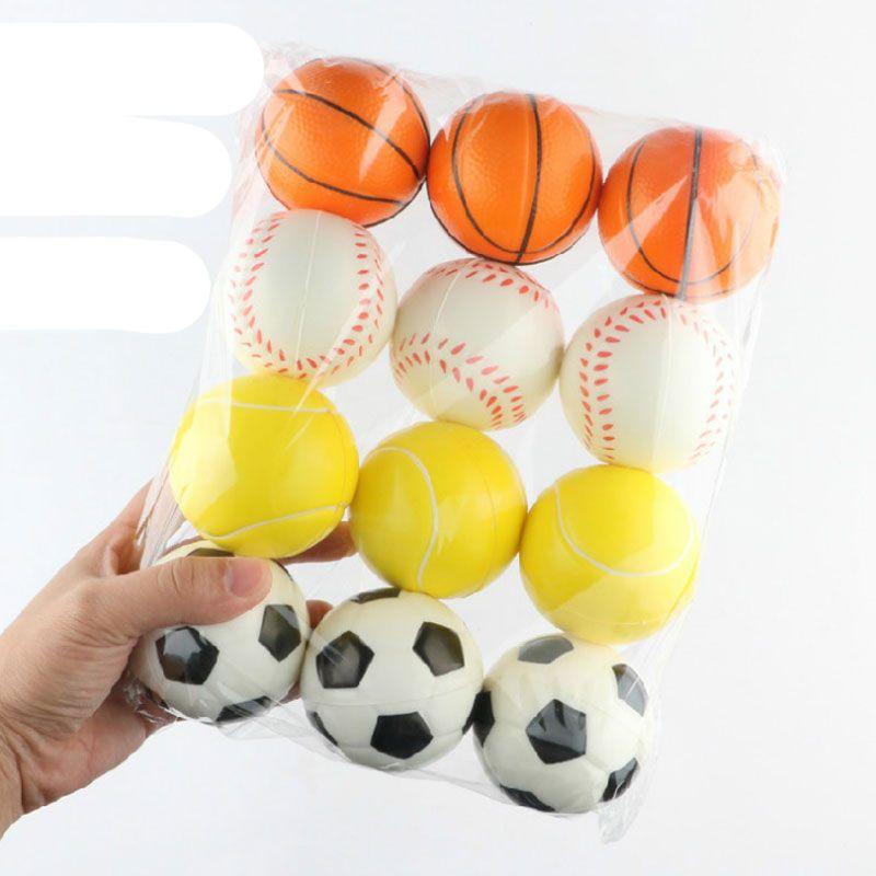 Basonball Football Baloncesto Tenis 6.3cm Suave PU Novedad Deporte Juegos de espuma Bola de espuma Juguetes para niños bebé
