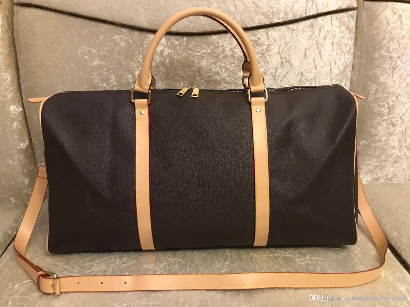 2014New Top Fashion Uomo Donne da viaggio Borsa Borsa Borsa, Borse per bagagli di marca Borsa sportiva grande capacità taglia 62 cm # 51885