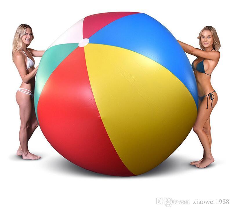 200 cm / 80 zoll Aufblasbare Strand Pool Spielzeug Wasserball Sommer Sport Spielen Spielzeug Ballon Im Freien Spielen Im Wasser Wasserball Spaß Geschenk