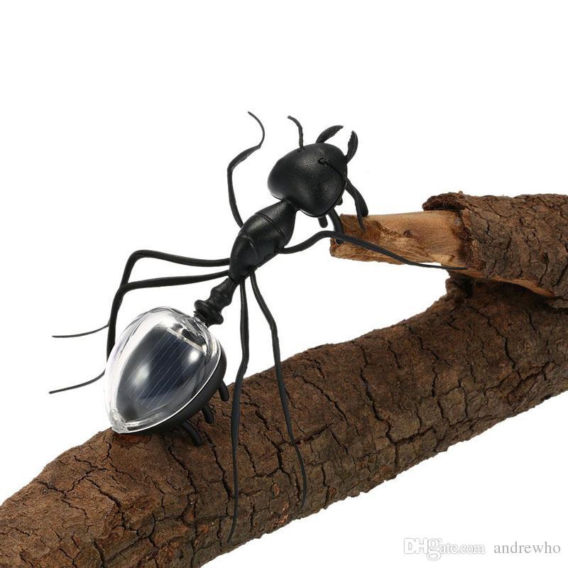 مزحة تعمل بالطاقة الشمسية النملة الشمسية العنكبوت الطاقة الروبوت لعبة علة الطاقة الشمسية البسيطة لعبة كيت الجدة كيد أداة الأزياء لعب للأطفال جديد