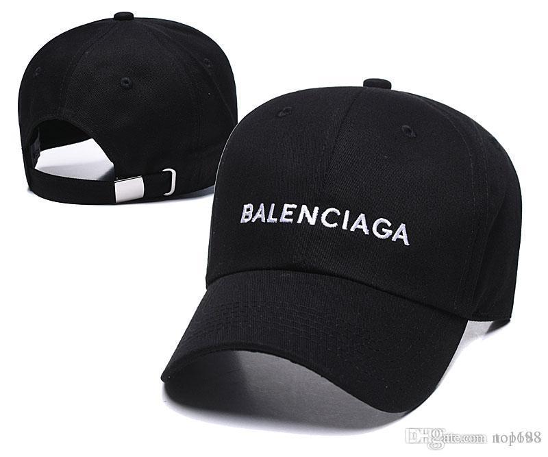 2019 Hot Die Marke Hysteresen-Kappen 24 Farben Strapback Baseballmütze Bboy Hip-Hop-Polo-Hüte für Männer Frauen angepasster Hut Schwarz, Rosa, Weiß
