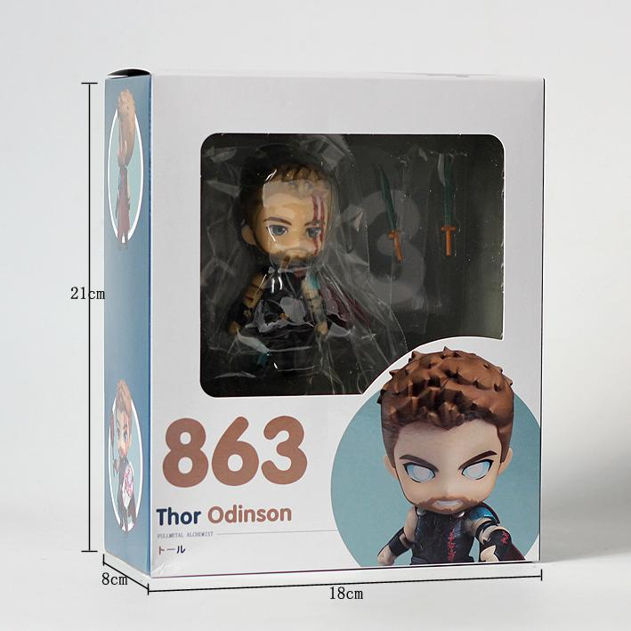 Ragnarok Thor Odinson PVC Action Figure New In Box Nendoroid 863 Thor
