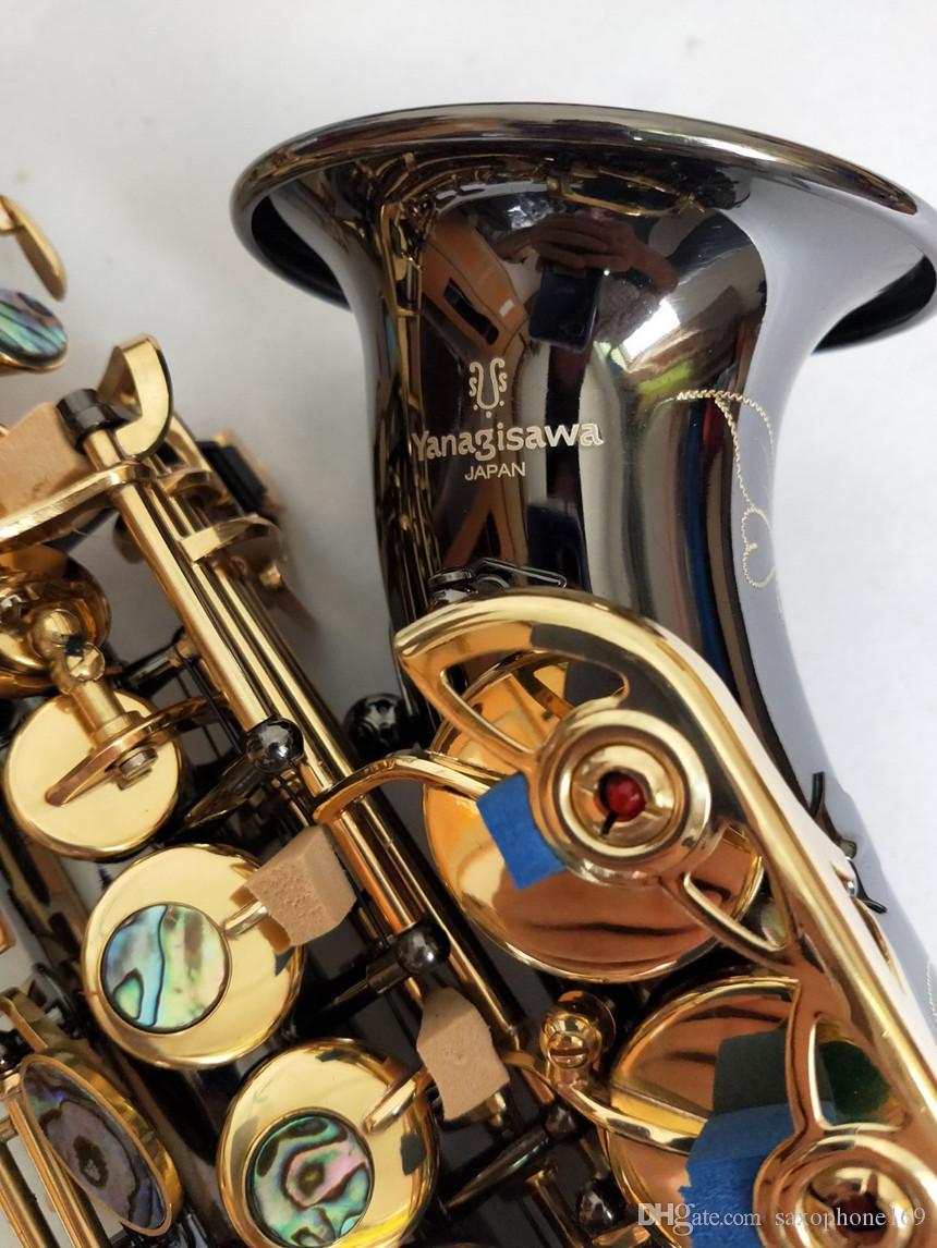 Curvado profesional Nuevo saxo soprano Japón Yanagisawa S-991 B Instrumentos musicales saxofón plano Negro Níquel Oro Envío